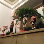 Excessive collection of Nutcrackers throughout the Lobby