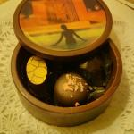 Picture of the chocolate box with the chocolates inside.