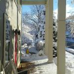 Winter view to the left as you leave the Inn's entry