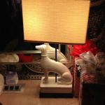 fun desk lamp in room