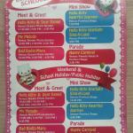 Entertainment Schedule for Hello Kitty Town