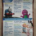 Entertainment Schedule for The Little Big Club