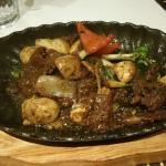 Spicy Beef Satay with Asian Vegetables