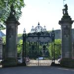 The famous gates of the Palace of Holyroodhouse.