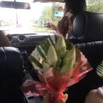 Pick up from the airport in the Mercedes with the welcome flowers