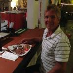 Satisfied customer eating at the bar. Warm and friendly and outstanding food! Photo by Dr. Jim