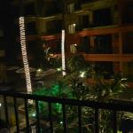 The view from Balcony in night