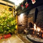 Open Fire and Christmas Tree
