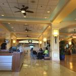 Lobby has a business center, coffee and food shop and Disney store...plenty of conference rooms