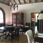 Dining room area of our villa