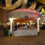 the ball room for a somptuous wedding