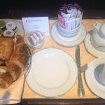 """Excellent """"Bread Basket"""" for breakfast (best French and Danish pastries I've had in the KSA)"""