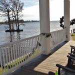 View from the porch towards the water