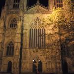 The Minster lit up at night