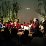 Indigenous children's orchestra (playing below the restaurant)