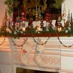 Holiday tree topper mantle