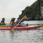 Kayaking with our guide, Nick