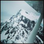 Flying over the mountains on the way to Milford Sound