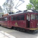 The Colonial Tramcar Restaurant ready for departure
