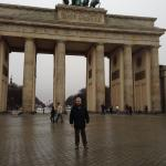 GDad in the rain at Brandenburg
