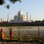 To my mind, this is the best view of the monument - from across the Yamuna River
