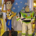 my kids with Lego Woody & Buzz