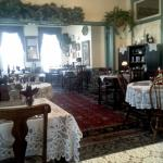Delicious meals are served in the large dining room.