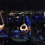 Marina view - Dec. boat lights