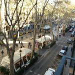 View of Las Ramblas from a Oriente Hotel balcony