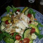 lovely fresh chicken salad served with freshly-baked bread or ciabatta! even with nuts! Highly r
