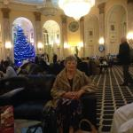 mum, waiting in main hall, before lunch.