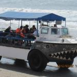 One of the amphibious vehicles found in town