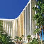 Four Seasons Hotel Las Vegas exterior and Mandalay Bay tower