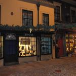 The Victorian Street decorated for Christmas