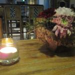 fresh flowers & candle