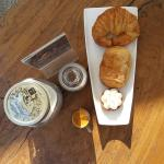 The best croissant in Bali that I have ever tasted and also Lemon Meringue Tartlet that is so de