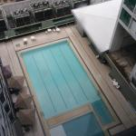 Swimming pool view from 16th floor
