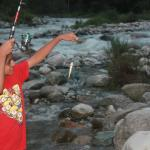 Angling in Tirthan river