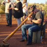 Listening to sounds of the Didgeridoo by Dwain Phillis