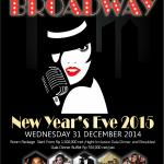 Celebrating for New Year`s Eve ala Broadway