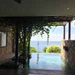 View from the Retreat Villa: partly shaded pool, nice water temperature