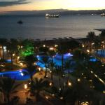 View from my room and red sea at night