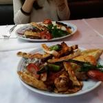 Turkish-style kebab and mix kebab plates