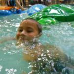The shallow depth pool gives kids a great experience!
