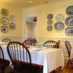 A small portion of the dining room