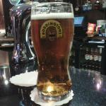 Pint of Boddingtons at the bar