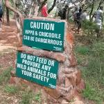 Caution, though I was not sure if there was any crocodiles LOL