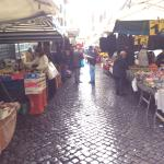 Outdoor market around the corner