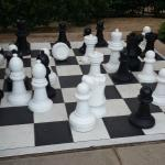 chess set at play area