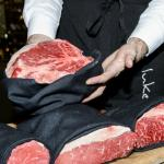 Selecting your cuts at Glass Brasserie